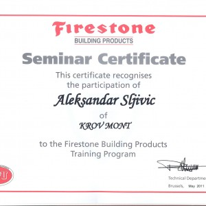 Firestone sertifikat